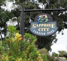 sapphire city caravan park - sign